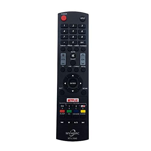 MYHGRC Ersatz Universal Fernbedienung Sharp MT-L1040 für Sharp Aquos Fernbedienung smart TV 4K HD LED LCD LC-32DH66E LC-32G20E LC-32LE700E - muss Nicht eingestellt Werden Sharp Universalfernbedienung