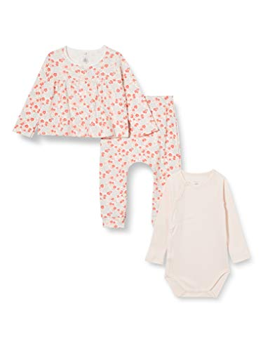 Petit Bateau Baby-Mädchen 5902101 Hosen Set, Marshmallow/Multico, 6 Mois