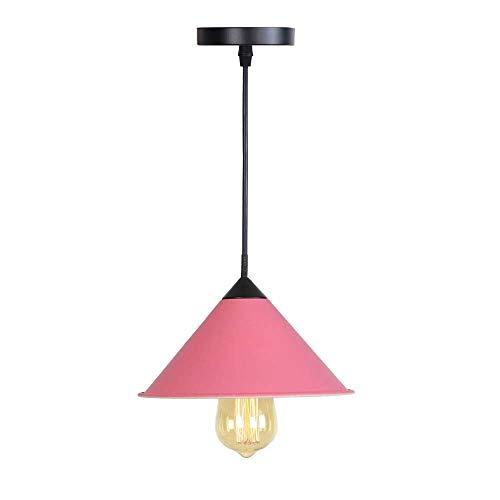 Beautiful lamps/Nordic E27 enkele kop lichten oorbellen Macaron draaien hanglamp restaurant keuken slaapkamer lamp van smeedijzer accessoires lichte schaduw