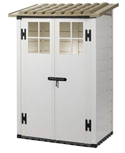 Garofalo Box capanno casetta ricovero Attrezzi Tuscany Evo 100/2 Resina 122,5x82,5x201