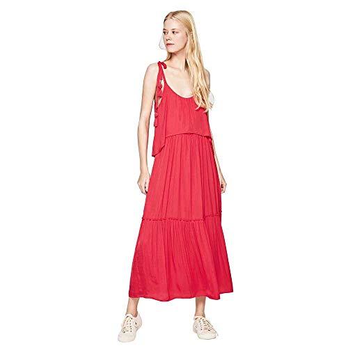 Vestido Pepe Jeans Largo Boho Larisa para Mujer M Rojo