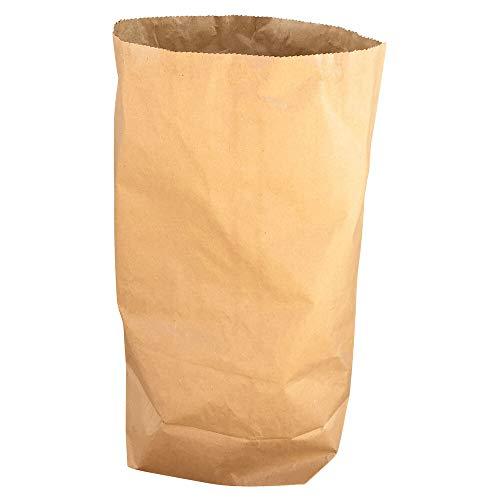 1-PACK Papier Bio Müllsäcke 70 L, 55 x 85 + 20 cm, 2-lagig - stark, braun, 25 Stück