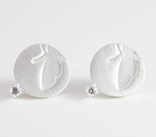 Ohrstecker Silber Schmetterling Statement-Ohrringe außergewöhnlicher Goldschmied Braut-Schmuck