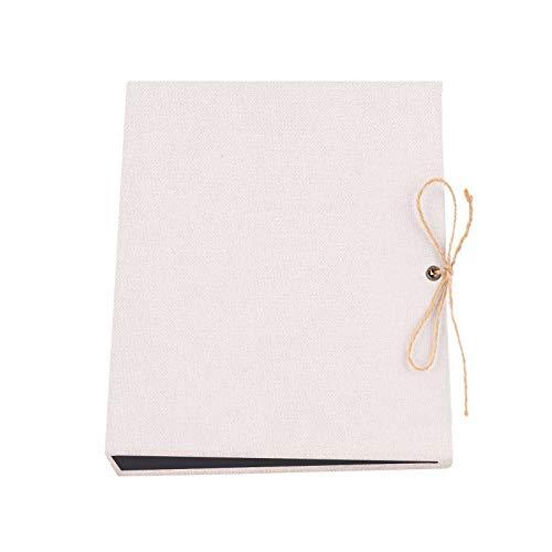 XGzhsa DIY Fotoalbum, Memory Scrapbook, Baumwollleinen Retro Scrapbook Album mit 30 schwarzen Blättern, Jubiläum Geburtstag Fre&e Kinder (26,5 x 21 cm)