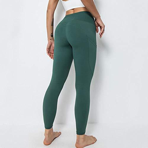 Leggings Womens Butt Lifting,2021 nuevos pantalones de yoga Hombres transfronterizos femeninos High Bomb de doble cara Nylon Tejer Tasas deportivas Europa y los Estados Unidos Pantalones de fitness-P