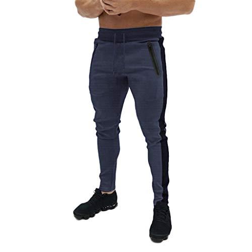 IFOUNDYOU - Pantaln de chndal para Hombre, de Puro Lino, Color Puro, Pantalones de chndal para Hombre 7722gris Fonc L
