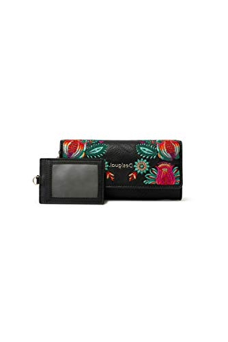 Desigual Long Wallet, Travel Accessory-Cintura Money Donna, Nero, U