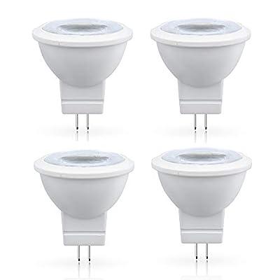 3W MR11 GU4.0 LED Light Bulbs - Lustaled 12V G4/GU4/GZ4 Bi-Pin Base LED Spotlight Lamp 35W Halogen Bulbs Equivalent Warm White 3000K for Landscape Accent Recessed Track Lighting (4-Pack)
