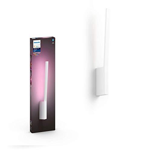 Philips Hue White & Col. Amb. LED Wandleuchte Liane, weiß, dimmbar, 16 Mio. Farben, steuerbar via App, kompatibel mit Amazon Alexa (Echo, Echo Dot)