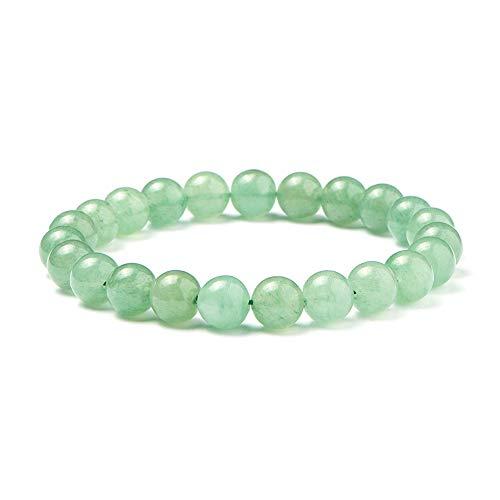 SUNNYCLUE natürliche grüne aventurine jade edelsteine armband stretch 8mm runden perlen über 7