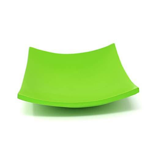 Trendy Wood & Light Quadrat grün Holzschale Dekoschale Holz Schale Deko Geschenk (grün)
