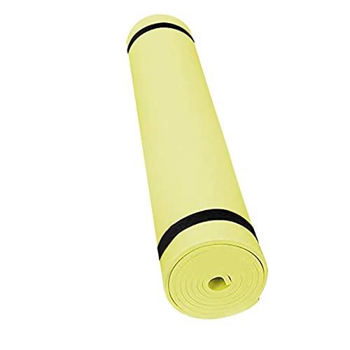 TYUTYU Alfombras de Yoga Manta Antideslizante Deporte Gimnasia Pierde Peso Ejercicio Ejercicio Deporte Deporte Yoga Estera (Color : Yellow)
