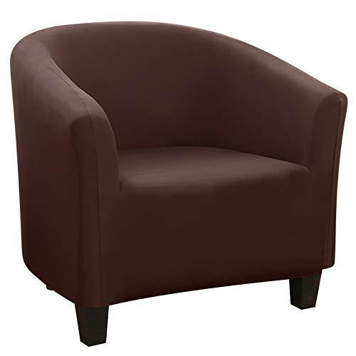 papasgix Sesselschoner Sesselbezug Stretch Sesselüberwurf Sesselhusse Elastisch Sofabezug Couch Überwurf Überzug für Cafe Loungesessel Cocktailsessel (Kaffee-3)