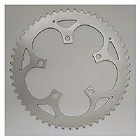 Heartwarming Shop ロード自転車チェーンリング110 BCD.折りたたみバイク部品チェーンホイールクランクセット34T 36T 38T 39T 42T 48T 50T 53T CNCシルバーリング (Color : 110 BCD 53T)