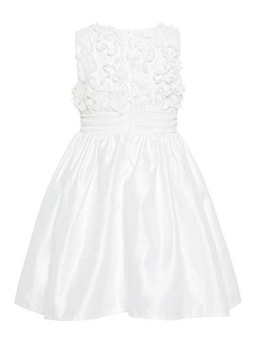 NAME IT Mädchen Kleid festlich nmfSOLA Weiß (110)