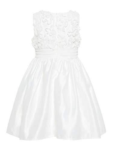 NAME IT Mädchen Kleid festlich nmfSOLA Weiß (104)