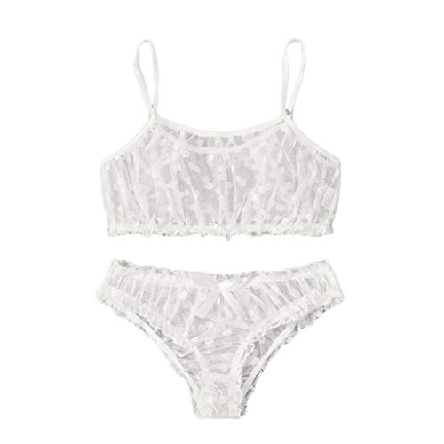 Drfoytg 2020 Women Dot Mesh Bra Bowknot Underpants Sleepwear Black Lingerie Set S-XLby