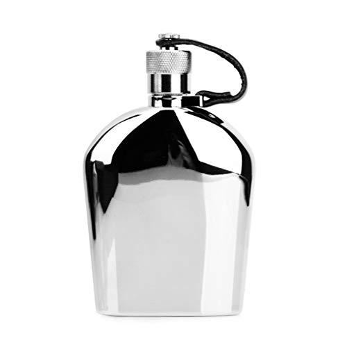Bouteille de poche 5 oz mini bouilloire vin ensemble 304 en acier inoxydable bouteille de whisky flacon extérieur portable, cadeau de vacances (Color : SILVER, Size : 13.3 * 8.1 * 2.8CM)