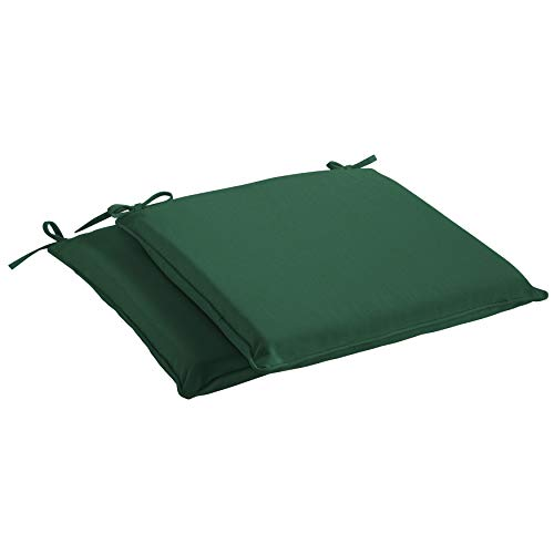 Mozaic Sunbrella AMCS113998 Indoor/Outdoor Cushion Corded Chair Pad Set, 19 in W x 17 in D, Canvas Forest Green
