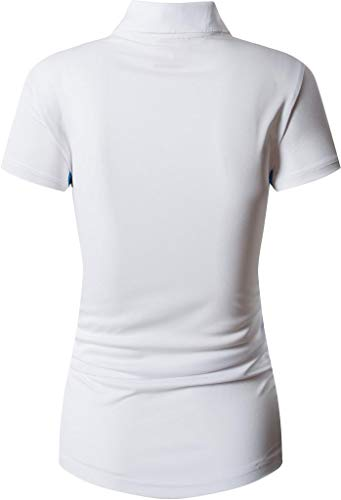 jeansian Women's Sports Breathable Quick Dry Short Sleeve Polo T-Shirts Tee SWT272 White S