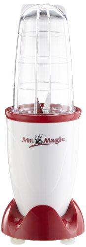GOURMETmaxx Mixer da appoggio Mr. Magic   Smoothie Maker con 8 funzioni, mixer con bicchiere To-Go e coperchio salvafreschezza   400 Watt, capacità di riempimento 500ml [rosso]
