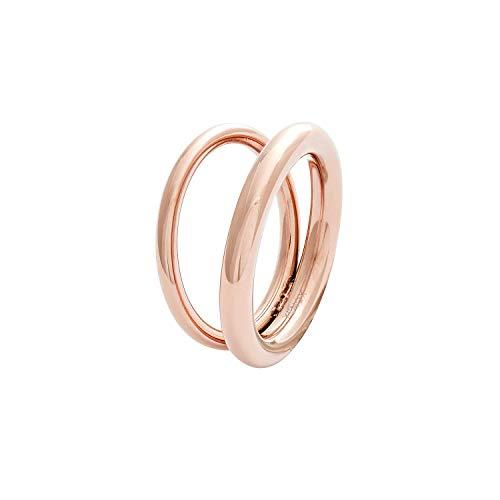 Xenox Damen-Ring URBAN JUNGLE aus Edelstahl (roségoldfarben, 58 (18.5))