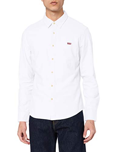 Levi's LS Battery Hm Shirt Slim Camisa, White (White 0002), Small para Hombre