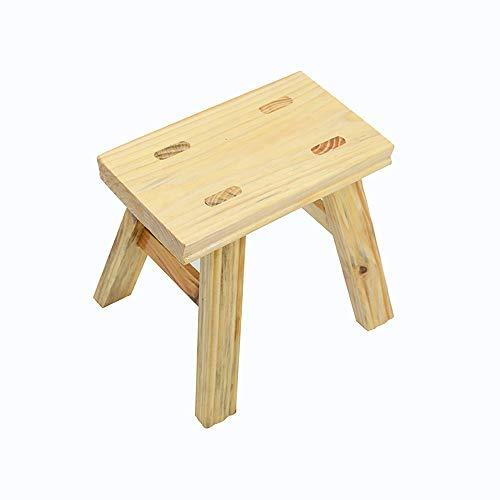 Taburete de madera japon¨¦s taburete de pie cocina comedor sala de estar dormitorio porche taburete ba?o ducha taburete antideslizante cama de Flores