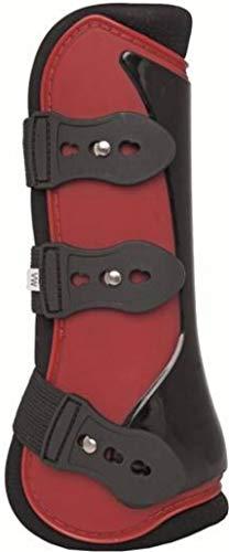 HKM 544898 HKM Gamaschen und Streichkappen, 4er Set -New-, rot/schwarz, Vollblut/Warmblut