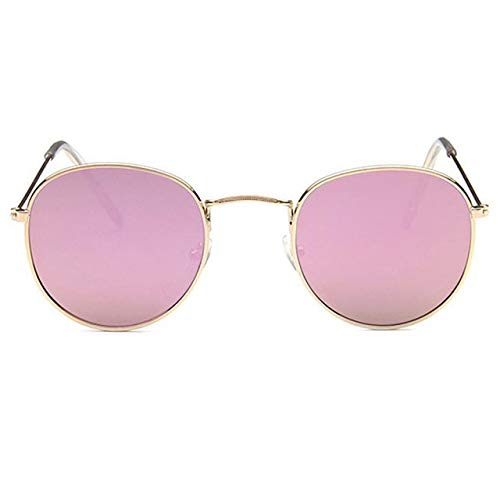 VIWIV Retro ronde zonnebril vrouwen designer merk zonne-gids spiegel glas-legering zonnebril voor vrouwen