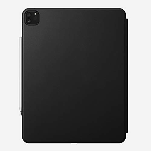 NOMAD Rugged Folio Hülle robuste Klapphülle aus hochwertigem Echtleder kompatibel mit dem iPad Pro 12,9-Zoll in schwarz