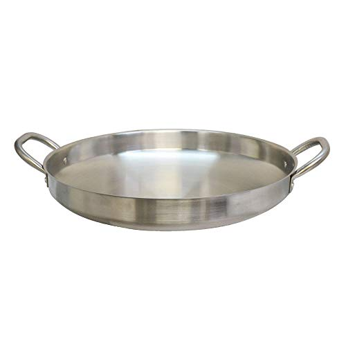 Thaweesuk Shop Portable 19' Camal Cooking Pan Flat Cazo Large 4-1/2' Deep Wok Caso