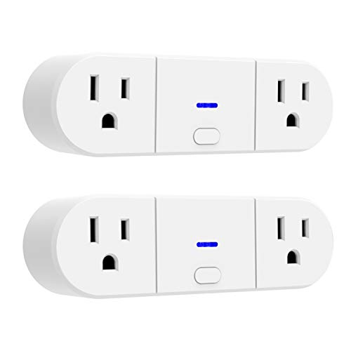 UltraPro Smart Plug, Wi-Fi, 2 Outlets, Works with Alexa, Echo & Google Home, No Hub Required, App Controlled, ETL Certified, 2 Pack, 51403