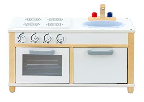 Betzold 56136 - Kinder-Küche Holz - Kinder-Spielküche 1-4 Jahre Spielzeugküche