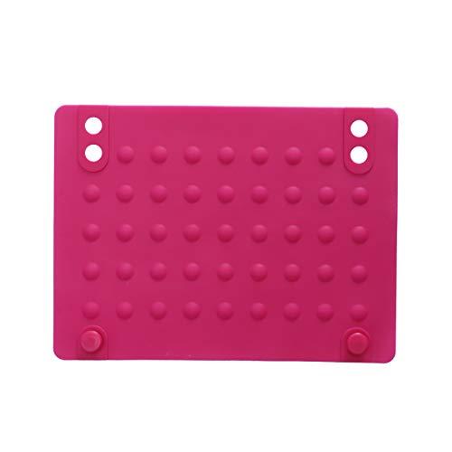 Lurrose Silikon-Isoliermatte Hitzebeständige Pads Isolationspad Rutschfeste Unterlage für Lockenwickler (Rose Red)