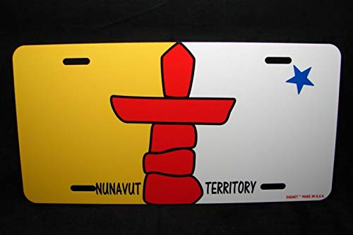 Nunavut Territory Flag Novelty Car License Plate Territoire Du Nunavut Auto Car Novelty Accessories License Plate Art