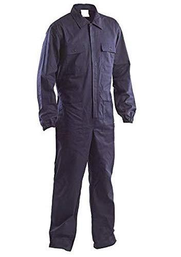 TLDSHOP® - Tuta Blu da Lavoro con Elastico ai Polsi - 100% Cotone - per Elettricisti/Meccanici/Scuole Tecniche ECC. (BLU, L)