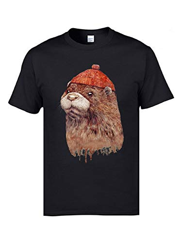 Cute River Otter Animal T Shirts Men Faddish Personalized Tops Tees O Neck 100% Cotton Birthday T Shirts Gift Short Sleeve