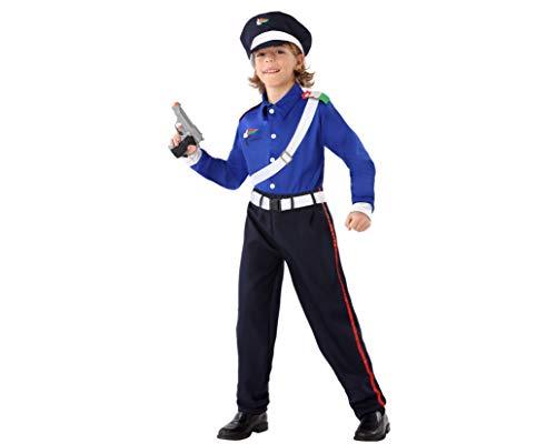 Atosa 61647 Costume Polizia Uomo Italiano Occupazioni Blu, Bambino, 7-9 Anni