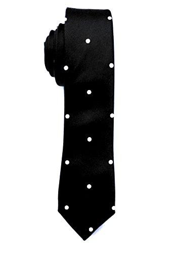 Blacksmith Black Polka Dot Tie for Men –