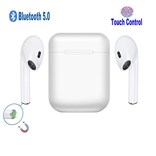 Somlato Wireless Earbuds Bluetooth 5.0 Auto Pairing with Deep Bass SoundCharging Case