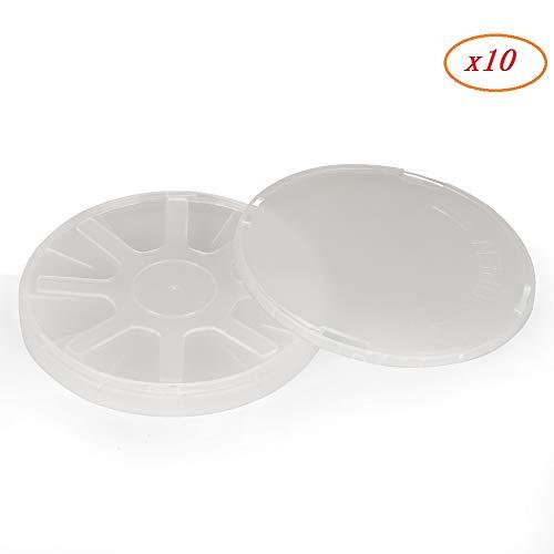 Caja de obleas de silicona – caja portadora de obleas individuales, incluye contenedor, cubierta y resorte