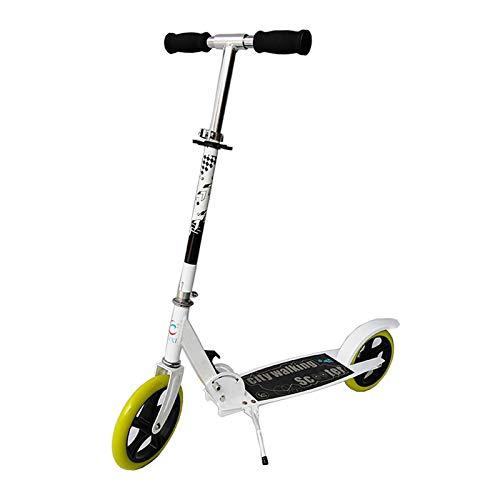 Scooter para niños de 8 a 12 años Freestyle Pro Scooter Stunt 200 mm Ruedas de aleación Micro Scooters Plegables Ajustables en Altura (Negro, Blanco)