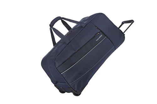 Travelite Weichgepäck Reisetasche mit Rollen, Gepäck Serie KITE: Extrem leichte Trolley Reisetasche im sportlichen Design, 089901-20, 64 cm, 68 Liter, marine (blau), 89901-20