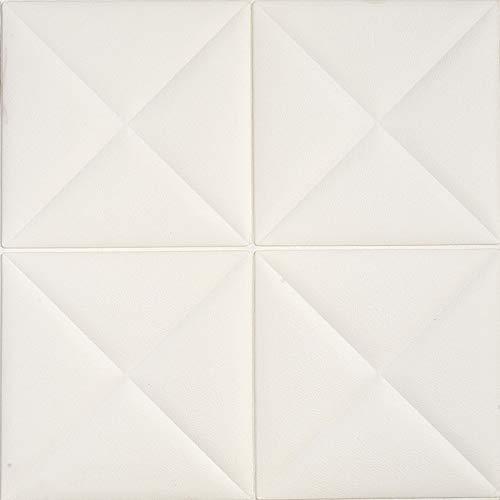 LZYMLG Adhesivos de pared de espuma tridimensional 3d habitación infantil anticolisión autoadhesiva papel tapiz jardín de infantes sala de estar dormitorio decoración pegatinas Blanco