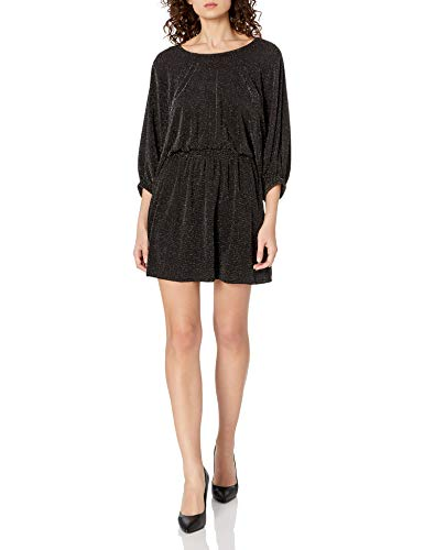 Show Me Your Mumu Damen Genevieve Mini Dress Cocktailkleid, Dancing Queen Shine Schwarz, Groß