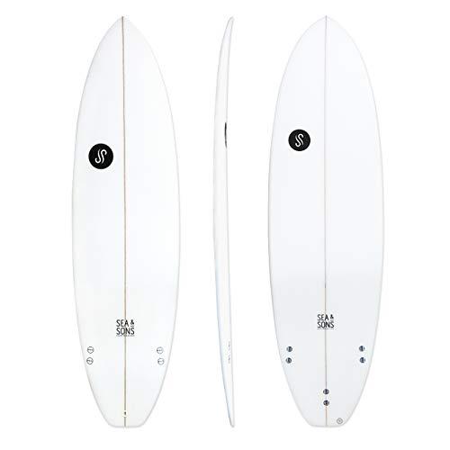 Tabla de surf evolutiva 6'4 6´4 x 20 ¾ x 2 ½ Volumen: 37.64 litros Shortboard híbrido de mucha potencía de flotación y fácil remada Tablas de surf de bajo costo y alto rendimiento, fabricadas en europa