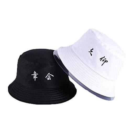 Bucket Hat Chapeau Lettre Broderie Chapeau De Seau Réversible Casquette Deux Côtés Porter Chapeau D'Été Coton Chapeau De Pêche Sports De Plein Air Plage Panama Hommes Adultize Color11