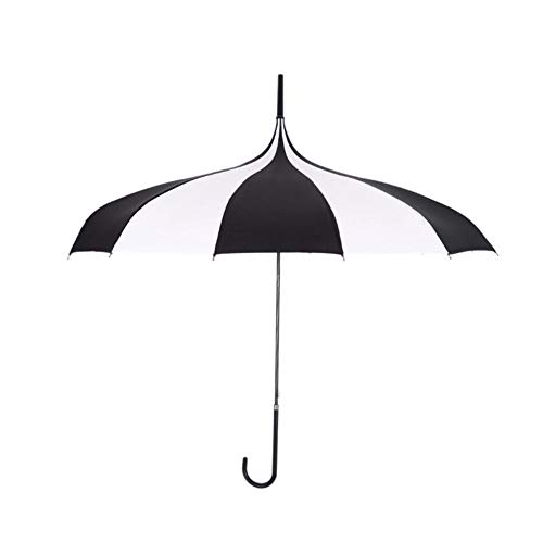 Xploit Schwarz und Weiß Regenschirm Frauen Große Große Lange Griff Gothic Klassischen Winddicht Turm Pagode Stil Sonnenschirm Neue Dienstprogramm