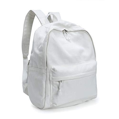 Damen Rucksack, Schule Rucksack, Schulrucksack Mädchen DIY Rucksäcke Daypack Backpack Tasche für Kinderrucksäcke,Teenager,Jungen(Weiß)
